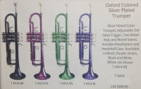 Oxford Silver Plated Colored Trumpet (T-6414)