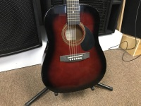 Johnson 1/2 Acoustic Guitar in Red (JG610R1/2)