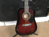 Johnson 3/4 Acoustic Guitar in Red (JG610R3/4)