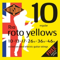 Rotosound ROTOS R10 Roto Yellows Electric Guitar Strings (R10)